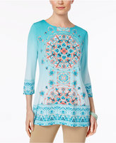 JM Collection Boat-Neck Studded Tunic, Only at Macy's