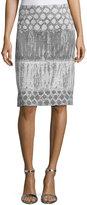 Lafayette 148 New York Yvette Printed Wool Skirt, Rock/Multi