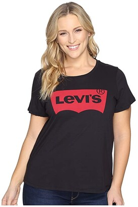 Levi's(r) Plus Perfect Tee w/o Pocket (Batwing Black) Women's T Shirt