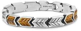 David Yurman Chevron Woven Bracelet with Tigers Eye