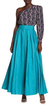 TOV Solid High Waisted Maxi Skirt