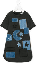Stella McCartney denim dress with patches - kids - Cotton/Polyester/Spandex/Elastane - 8 yrs
