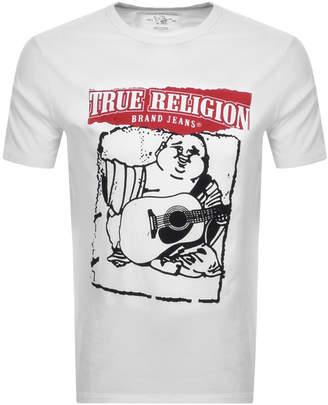 True Religion Crew Neck Buddha Logo T Shirt White
