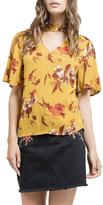 Blu Pepper V-Neck Floral Shirt