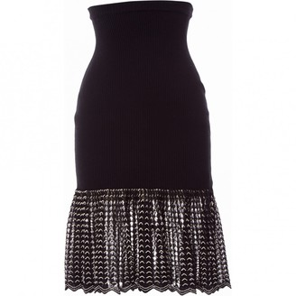 Alexander McQueen Black Cotton Skirt for Women