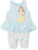 Children's Apparel Network Blue Disney Princess Belle Ruffle Tunic & Leggings - Infant