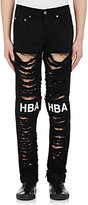 Hood by Air MEN'S SHREDDER PATCH JEANS-BLACK SIZE 32