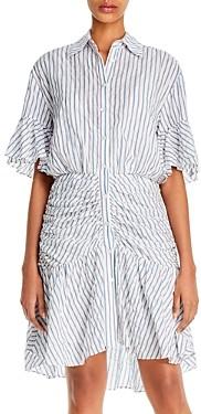 Cinq à Sept Asher Striped High/Low Mini Dress