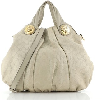 Gucci Hysteria Convertible Top Handle Bag Guccissima Leather Large