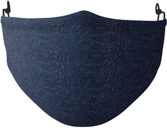 Les 100 Ciels Silk Face Mask In Navy