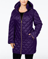MICHAEL Michael Kors Size Hooded Diamond-Quilted Packable Down Coat