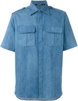 Neil Barrett short sleeve denim shirt - men - Silk/Cotton/Polyester - 38
