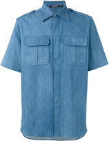 Neil Barrett short sleeve denim shirt - men - Silk/Cotton/Polyester - 39