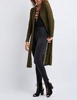 Charlotte Russe Slub Knit Duster Cardigan