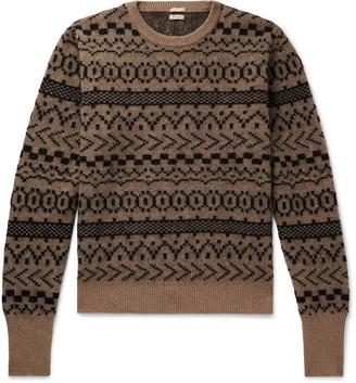 Massimo Alba Cashmere, Mohair And Silk-Blend Jacquard Sweater