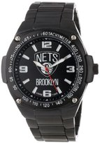 Game Time Unisex NBA-WAR-BK Warrior Brooklyn Nets Analog 3-Hand Watch