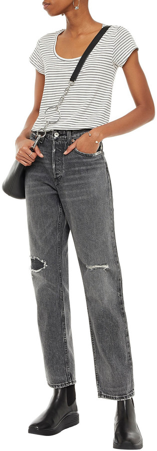 Thumbnail for your product : Rag & Bone Distressed Mid-rise Boyfriend Jeans