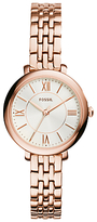 Fossil ES3799 Jacqueline Women's Stainless Steel Bracelet Strap Watch, Rose Gold/White