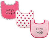 Luvable Friends Pink 'Daddy's Little Girl' Drooler Bib Set