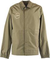 Helmut Lang Green Detachable Hood Raincoat