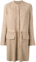 Meteo By Yves Salomon - perforated jacket - women - Goat Suede - 40