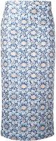 Rochas floral jacquard midi skirt