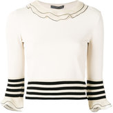 Alexander McQueen ruffled knitted top - women - Silk/Polyamide/Polyester/Viscose - L