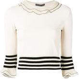 Alexander McQueen ruffled knitted top - women - Silk/Polyamide/Polyester/Viscose - S