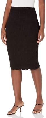 BB Dakota Women's Smocked & Amazed Skirt