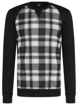 Hugo Boss Sweatshirt Cotton Plaid Sweatshirt L Black