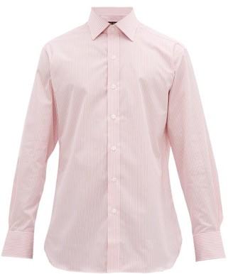 Emma Willis Striped Slim-fit Cotton Shirt - Mens - Pink