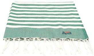 MC2 Saint Barth Green Striped Fouta Towel