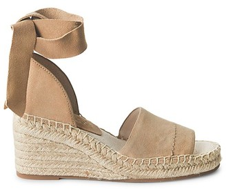 Splendid Malissa Suede Ankle-Tie Wedge Sandals