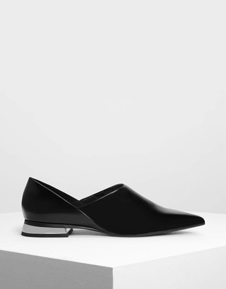 Charles & Keith Pointed Toe Slip On Flat Shoes
