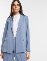 Y.A.S tailored blazer two-piece in blue