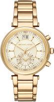MICHAEL Michael Kors Jet Set 39mm Chronograph Bracelet Watch, Golden