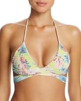 Tori Praver Floral Myra Wrap Bikini Top