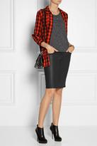 Current/Elliott The Stiletto Pencil coated stretch-denim skirt