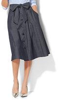 New York & Co. Tie-Front Midi Skirt