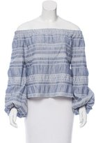 Intermix Off-The-Shoulder Chambray Top