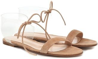 Gianvito Rossi Estelle PVC and suede sandals