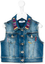 MSGM embellished denim gilet