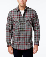 Club Room Men's Plaid Lined Shirt Jacket, Only at Macy's