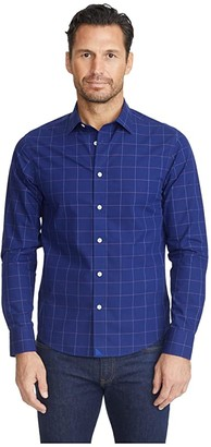 UNTUCKit Wrinkle-Free Baracci Shirt (Navy) Men's Long Sleeve Button Up