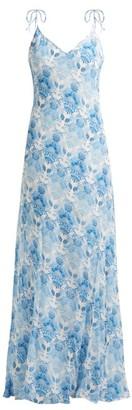 Athena Procopiou - Kalua Bias Cut Maxi Dress - Womens - Blue White