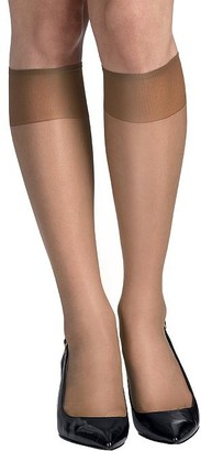 Hanes Silk Reflections Sheer Toe Knee Highs 6-Pack