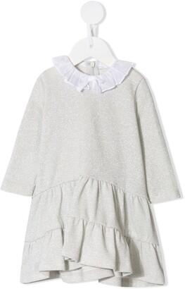 Il Gufo Contrast-Collar Knit Dress