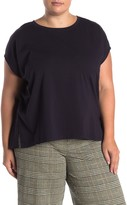 Eileen Fisher Crew Neck Dolman Sleeve Top (Plus Size)