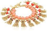 "Kate Spade Pink/Multicolored Tassel Bracelet, 7.5"""