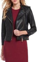 Armani Exchange Faux Leather Rose Gold Hardware Moto Jacket